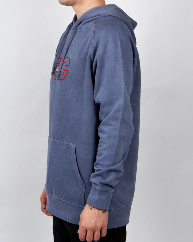 VIC - Sports Embroidery Hood - Faded Denim