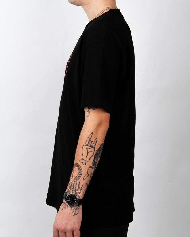 Sports Embroidery Tee - Black