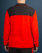 TKA Glacier Fleece Snap Pullover - Fiery Red