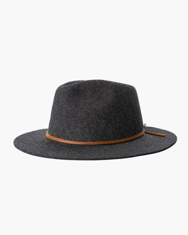 Wesley Fedora Hat - Heather Black