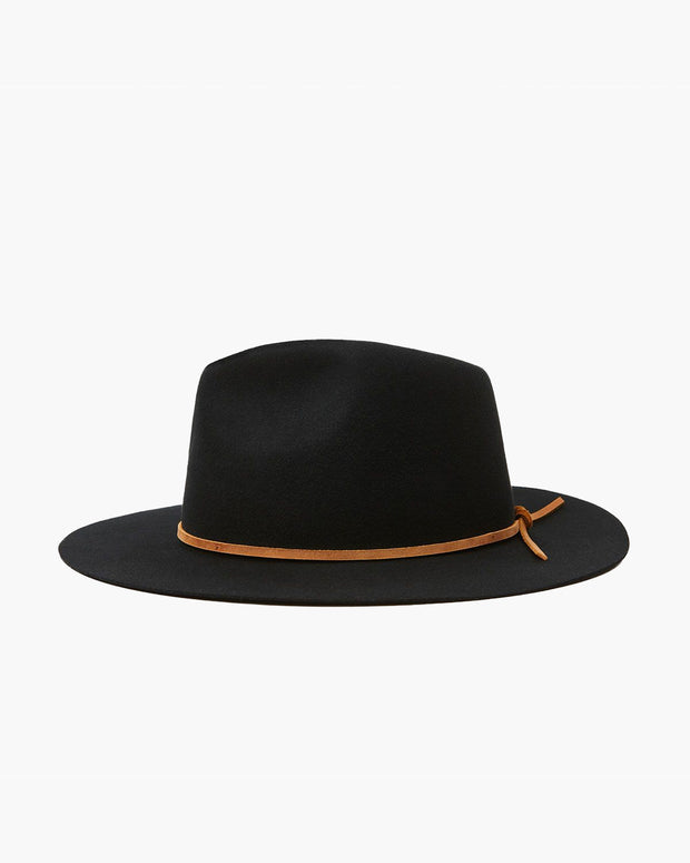 the Wesley Fedora Hat in Black from Brixton
