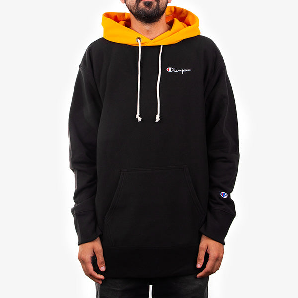 RW Oversize Colour Block Hood - Black