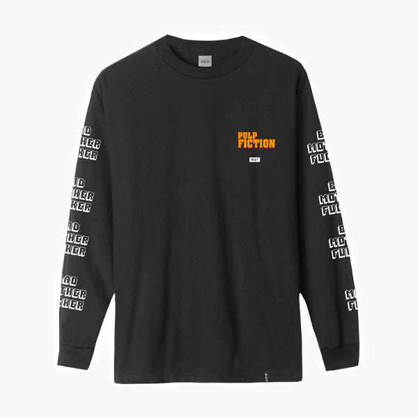 HUF X Pulp Fiction Bad MF L-S Tee - Black