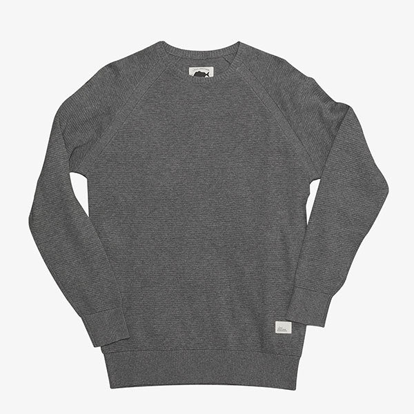 Best Mate Knit Crew - Grey Marle