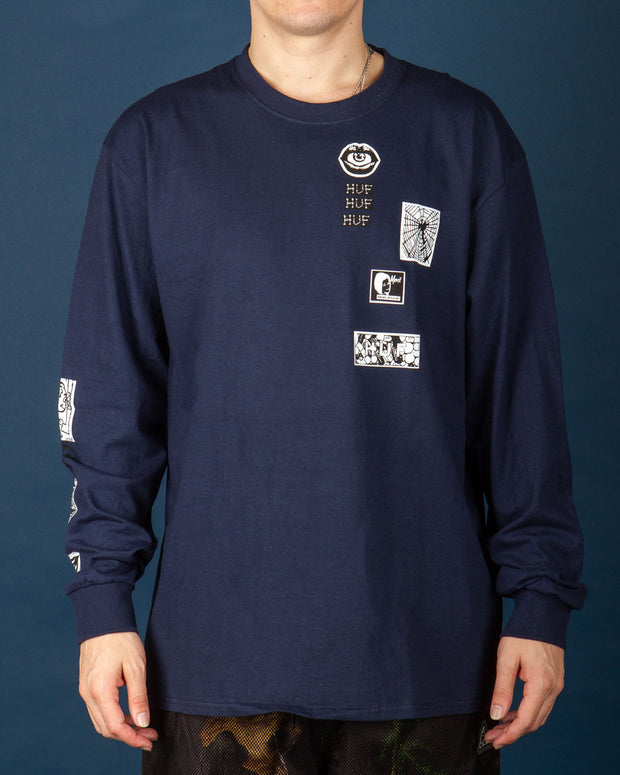 HUF - Masters LS Tee - French Navy