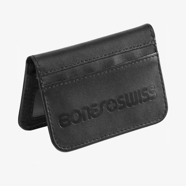 Swiss Debossed Wallet - Black
