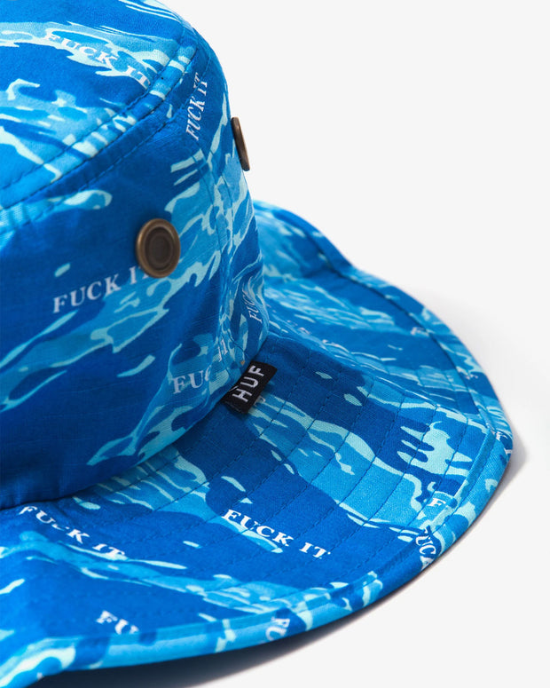 HUF - Fuck It Tiger Camo Boonie Hat - Olympian Blue