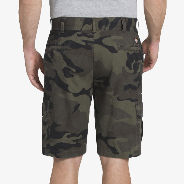 351 Relaxed Fit Rip Stop Short - Moss Black Camo
