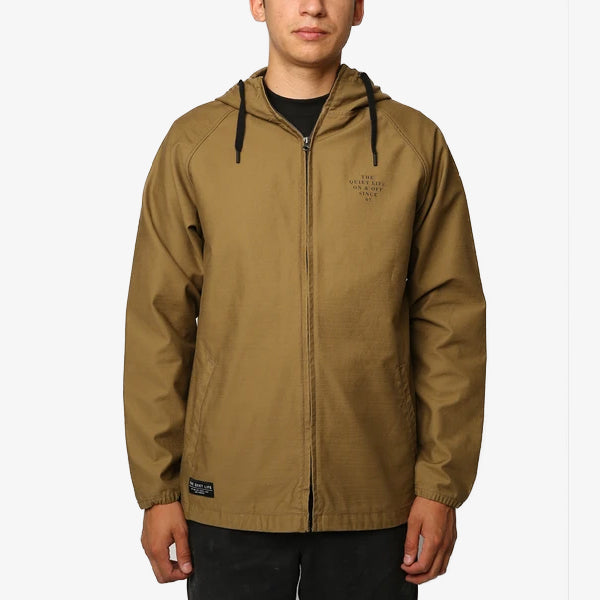 Canvas Hooded Jacket - Bark