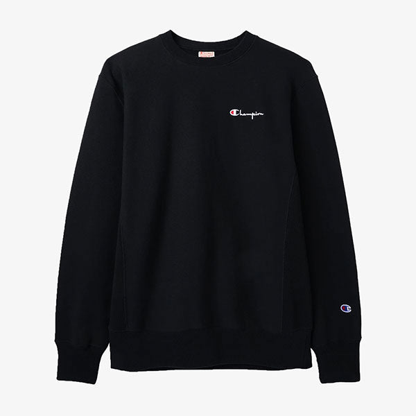Champion - Reverse Weave Mini Script Crew - Black
