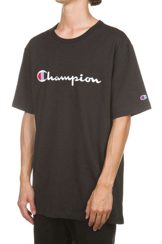 Champion Heritage Tee Embroidered Big Script - Black