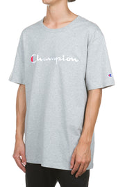 Champion - Heritage Tee Embroidered Big Script - Oxford Grey
