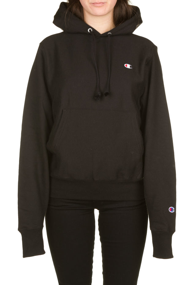 Reverse Weave Pullover Hood - Black Champion
