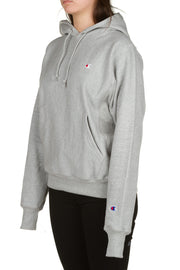 Reverse Weave Pullover Hood - Grey Champion