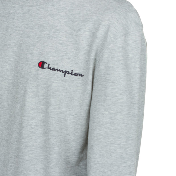 Champion - Heritage Emb Script LS Tee - Oxford Grey