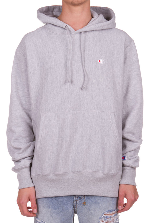 Reverse Weave Pullover Hood - Oxford Grey Champion