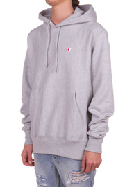 Reverse Weave Pullover Hood - Oxford Grey