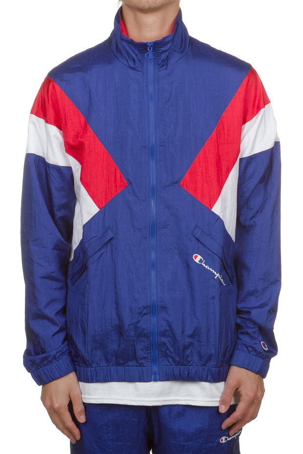 Champion Nylon Warm Up Jacket - Surf/Scarlet/White