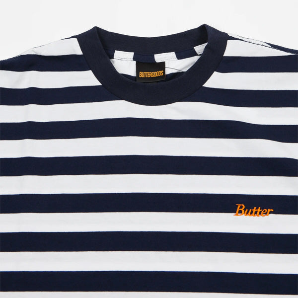 Cycle Stripe Tee - Navy/White