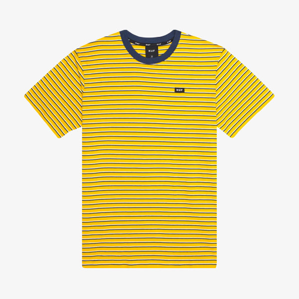 Davis Striped SS Knit Top - Sauterne