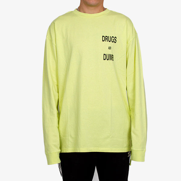 Drugs Aer Dumb LS Tee - Acid