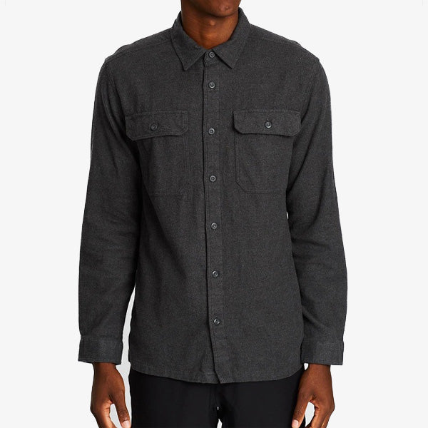 M's L-S Fjord Flannel Shirt - Forge Grey
