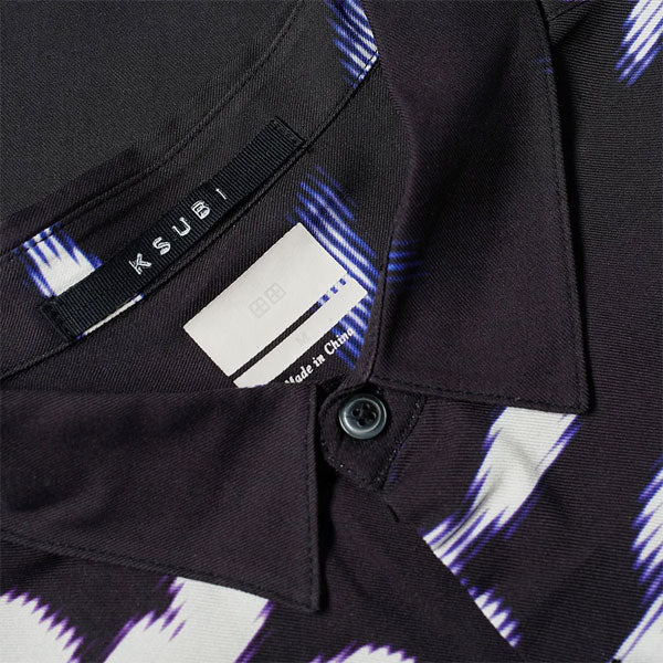 Fractals Resort SS Shirt - Black - Purple