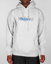 Butter Goods - Monkey Logo Pullover Hoodie - Heather Grey