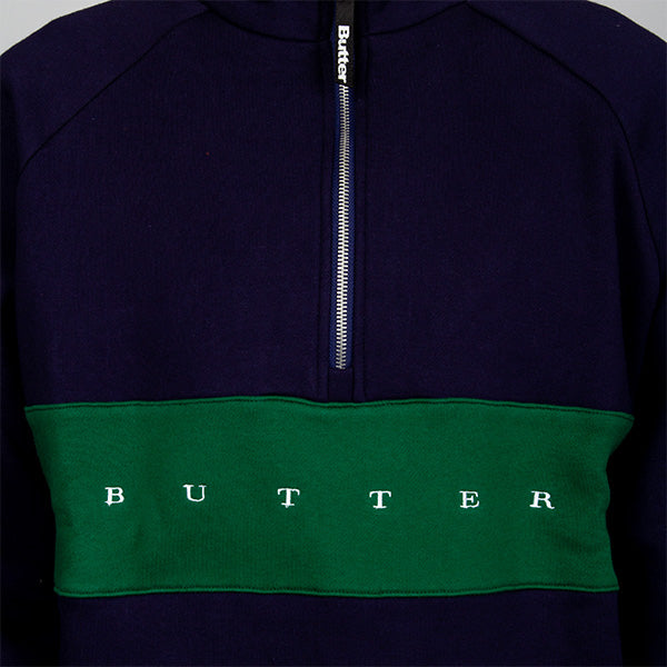 Hampshire 1-4 Zip Pullover - Navy - Forest