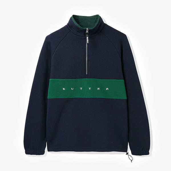 Butter Goods - Hampshire 1-4 Zip Pullover - Navy - Forest