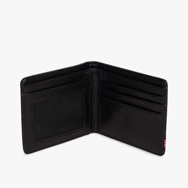 Hank Leather Wallet - Black Pebbled