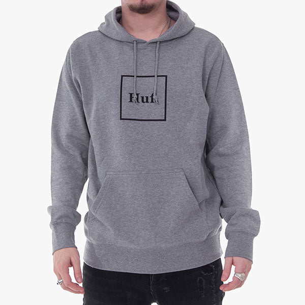 Box Logo Hoodie - Grey Heather