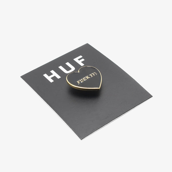 Fuck It Heart Pin - Black