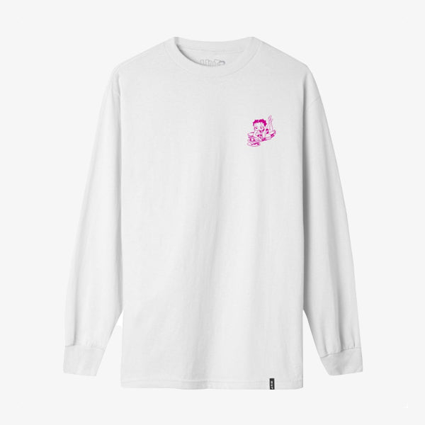 BB Live Wire L-S Tee - White