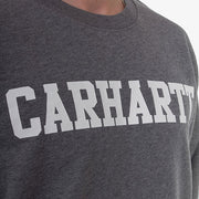 College Sweat - Dark Grey Heather/White