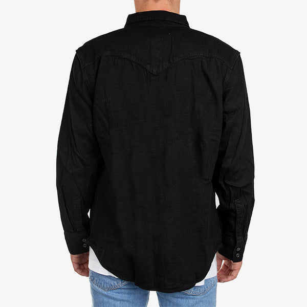 Barstow Western Standard Shirt  - Marble Black