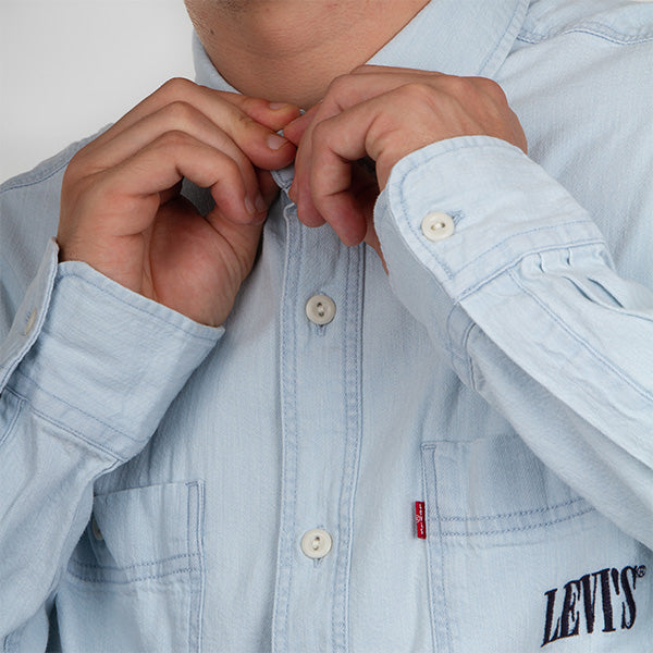 New Camp Overshirt - Sun Bleached Indigo