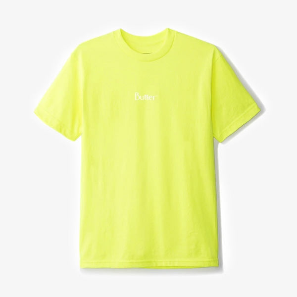Classic Micro Logo Tee - Safety Green