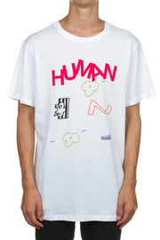 Human Content SS Tee - Washed White