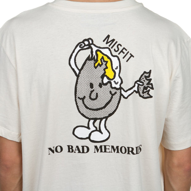 No Memories SS Tee - Washed White