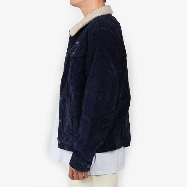 M's Pile Lined Trucker Jacket - New Navy