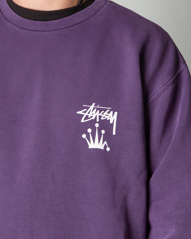 Stussy - Stock Crown Crew - Aubergine
