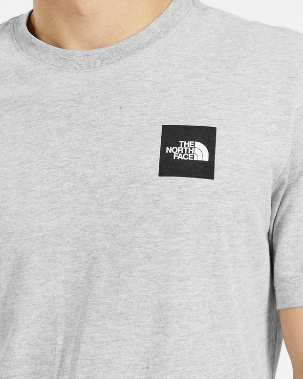 The North Face - SS Red Box Tee - Light Grey Heather