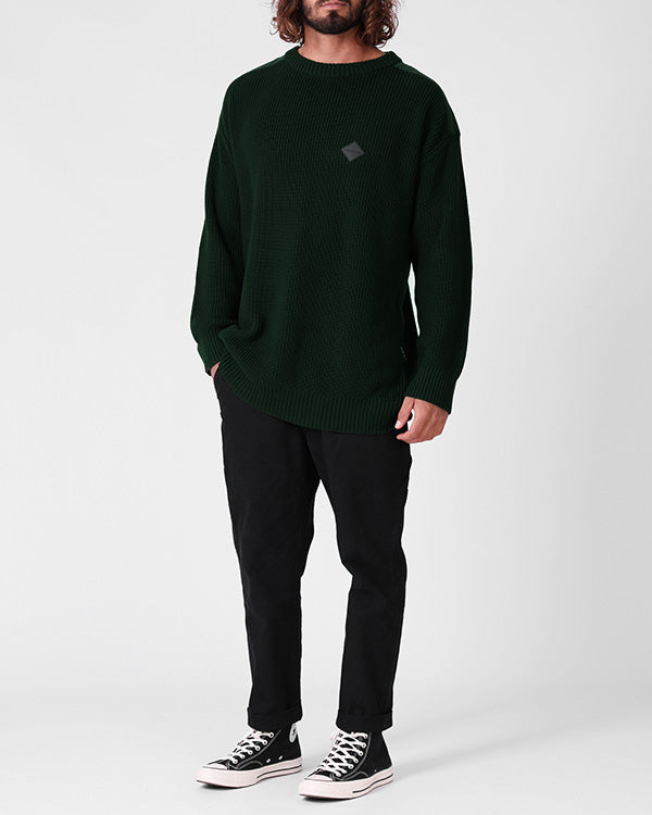 Fisherman Knit - Bottle Green