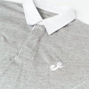 Script J Rugby Shirt - Heather Grey
