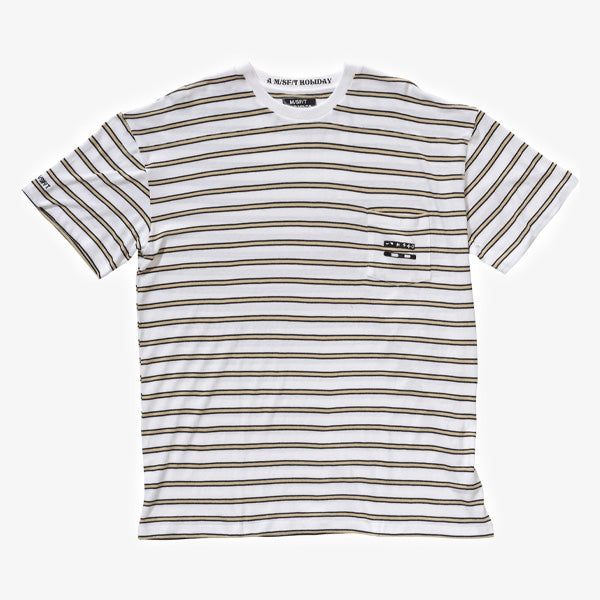 Shivers Stripe Tee - White