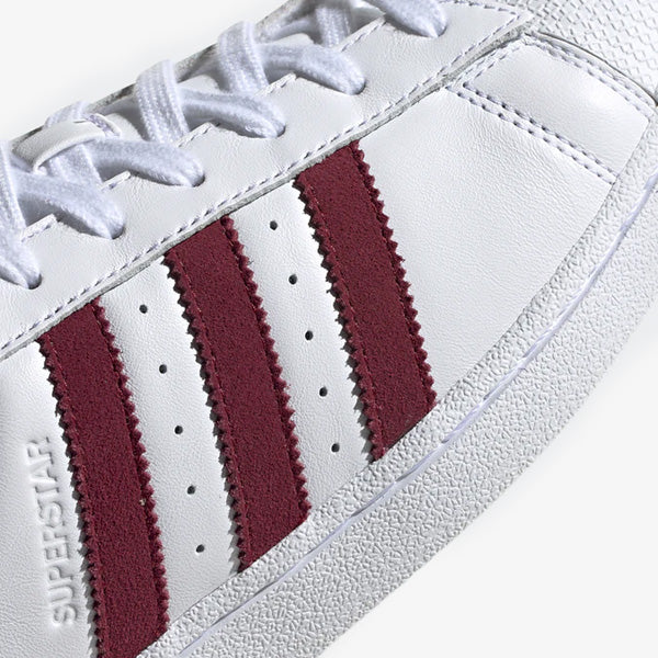 Superstar - White/Burgundy/White