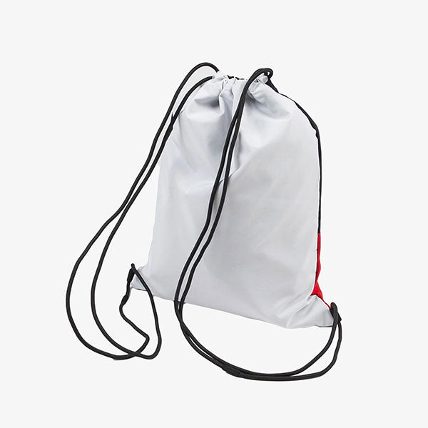Terrace Drawstring Bag  - Cardinal/Dark Navy/White