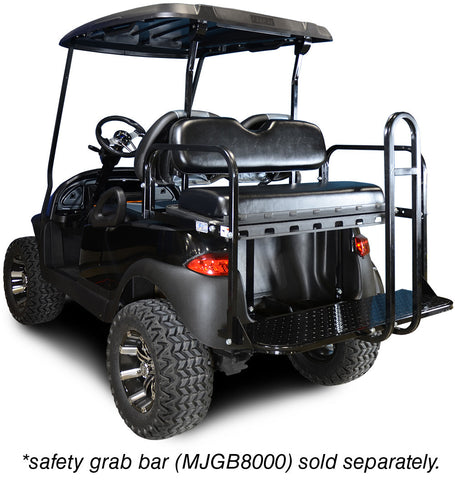 Rear Flip Seat with Black Cushion. Will fit Club Car® Precedent® Golf Carts.