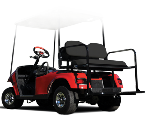 Rear Flip Seat with Black Cushion. Will fit E-Z-GO® TXT® Golf Carts.
